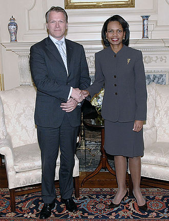 Wouter Bos - Wouter Bos and United States Secretary of State Condoleezza Rice at the United States Department of State in Washington, D.C. on 23 October 2007.
