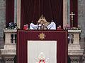 2008 Xmas Urbi Orbi Pope Benedict XVI.jpg