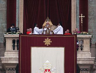 Urbi et Orbi - The 2008 Urbi et Orbi by Pope Benedict XVI on the Feast of the Nativity of Jesus Christ, Christmas Day,  Saint Peter's Square, Vatican City