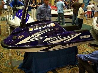 Yamaha SuperJet - 2008 SuperJet showing the Blue with White Graphics color scheme.