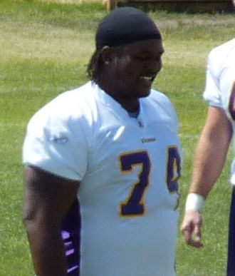 Tackle (gridiron football position) - Former Minnesota Vikings' offensive tackle Bryant McKinnie