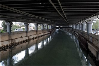 Cephissus (Athenian plain) - Cephissus river view under the highway Athens-Lamia.