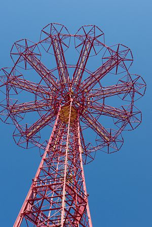 Parachute Jump - Close-up of Parachute Jump