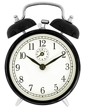 2010-07-20 Black windup alarm clock face.jpg