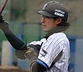 20120304 Atsusi Kita, outfielder of the Yokohama BayStars, at BayStars Stadium.JPG