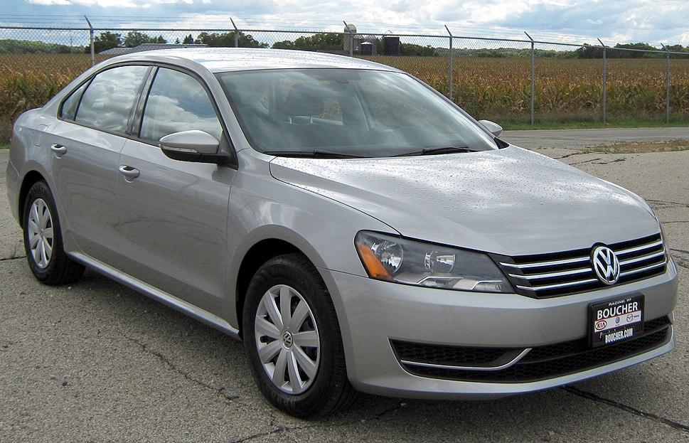 2012 Volkswagen Passat -- NHTSA 1