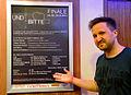 2014-03-26 UND BITTE – Filmpreis 2013, (02) Moderator Motte (Matthias) Jansen im Foyer vom Kino am Raschplatz in Hannover.jpg