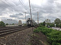 2014-05-15 15 00 00 New Jersey Transit train heading north along the Northeast Corridor rail line in Trenton, New Jersey.JPG