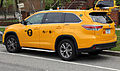 2014 Toyota Highlander XLE NYC yellow cab rear.jpg