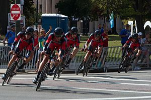 2015 UCI Road World Championships – Men's team time trial - BMC riding to victory