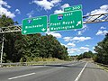 2016-09-12 14 40 12 View north along Interstate 81 at Exit 300 (Interstate 66 east, Front Royal, Washington) in northwestern Warren County, Virginia.jpg