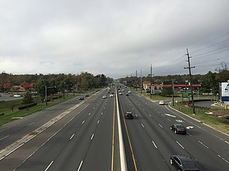 West Windsor Township, New Jersey - U.S. Route 1 in West Windsor
