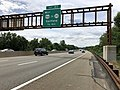 2018-07-21 12 23 06 View south along New Jersey State Route 444 (Garden State Parkway) just north of Exit 157 (WEST U.S. Route 46, To New Jersey State Route 20, Garfield) in Elmwood Park, Bergen County, New Jersey.jpg