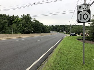 Randolph, New Jersey - Route 10 westbound in Randolph