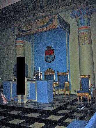 Norwegian Order of Freemasons - Internal view of the main lodge building of the Norwegian Order of Freemasons