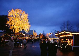 Liseberg - Liseberg dressed for Christmas market