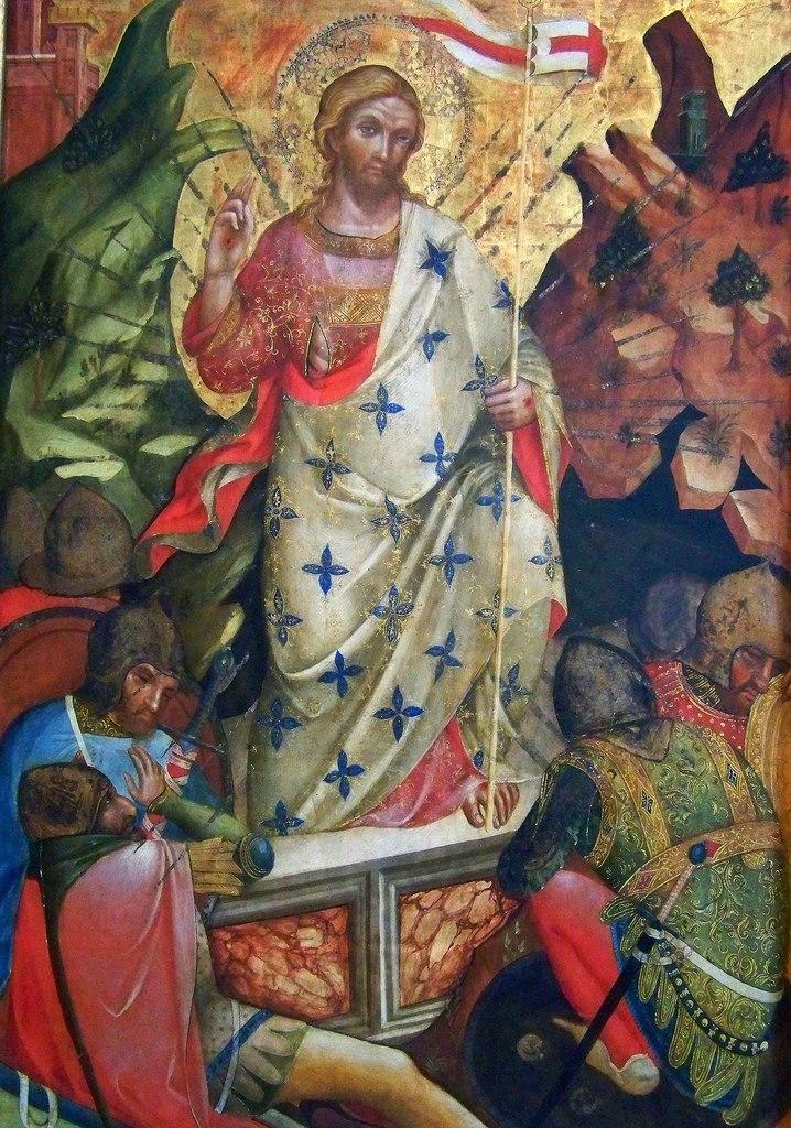 26 Lorenzo Veneziano, Resurrection. 1371 Castello Sforzesco, Milan