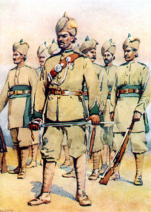 16th Punjab Regiment - Image: 33rd Punjabis (15 Punjab) (P Ms) 1910