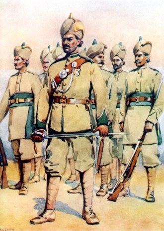 16th Punjab Regiment - Image: 33rd Punjabis (15 Punjab) (P Ms) 1910