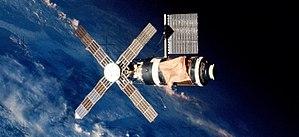 Skylab 2 - Skylab, seen from the departing Skylab 2 spacecraft