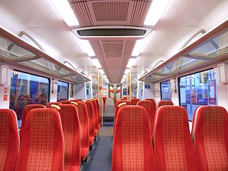 British Rail Class 450 - The interior of Standard Class accommodation aboard a Class 450