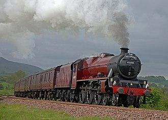 LMS Jubilee Class 5699 Galatea - 45699 Galatea with The Fellsman Near Rimington.