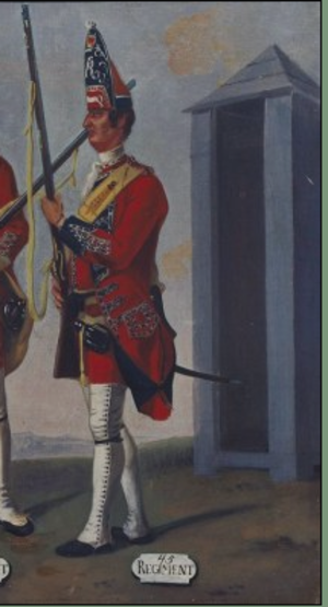 Raid on Dartmouth (1751) - 45th Regiment of Foot By David Morier, 1751