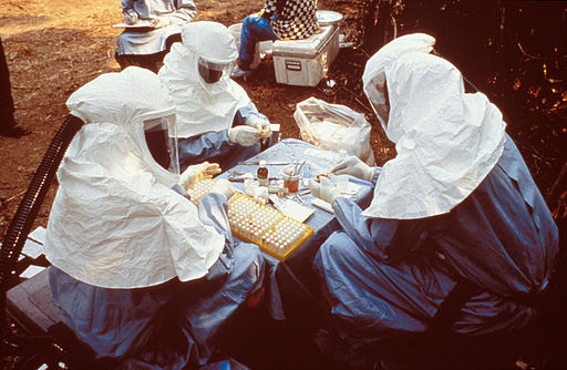 6136 PHIL scientists PPE Ebola outbreak 1995