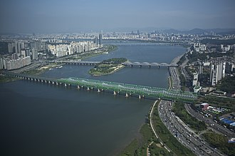 Han River (Korea) - Hangang Railway Bridge crossing the Han.