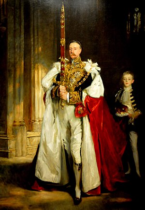 Charles Vane-Tempest-Stewart, 6th Marquess of Londonderry - The Marquess of Londonderry, bearing the Sword of State at the coronation of Edward VII, August 1902. Portrait by John Singer Sargent.