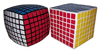 V-Cube 7 - V-Cube 7 (left), Shengshou 7×7 (right)