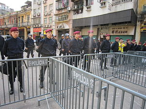 Crime in Macau - Public Security Police Force of Macau