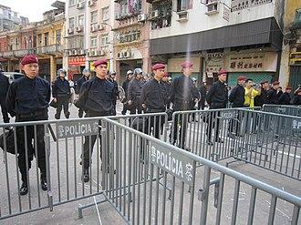 Crime in Macau - Public Security Police Force of Macau
