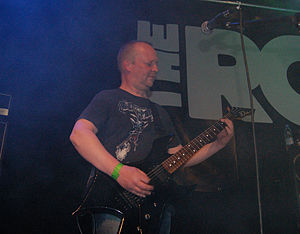 Artillery (band) - Michael Stützer, the guitarist, during concert at The Rock in Copenhagen, 2008