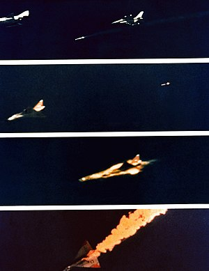 AIM-120 AMRAAM - First successful test at the White Sands Missile Range, New Mexico 1982