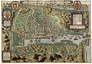Portuguese conquest of Goa - Image: AMH 6577 KB Bird's eye view of the city of Goa