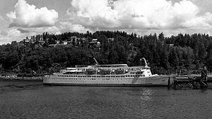 MV Wickersham - Image: AMHS's Wickersham @ Fairview Terminal, Prince Rupert c 1970
