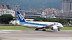 ANA Boeing 787-881 JA829A Taking off from Taipei Songshan Airport Runway 20150321b.jpg