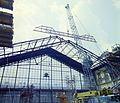 A Nyugati pályaudvar csarnokának rekonstrukciója. Fortepan 99441.jpg