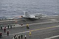 A U.S. Marine Corps F-A-18C Hornet aircraft assigned to Marine Strike Fighter Squadron (VMFA) 323 launches from the aircraft carrier USS Nimitz (CVN 68) in the Indian Ocean June 7, 2013 130607-N-TW634-132.jpg