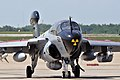 A U.S. Navy EA-6B Prowler aircraft assigned to Electronic Attack Squadron (VAQ) 209 sits on the flight line at Joint Base Andrews, Md., May 17, 2013 130517-N-fv144-016.jpg