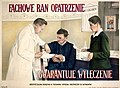 A doctor bandaging a man's arm. Colour lithograph after Wellcome L0032172.jpg