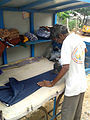 A man ironing clothes at Kakinada 03.jpg