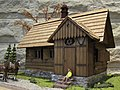 A miniature model of the first mountain hostel Makkabi Bielsko from 1929 at Hala Boracza 02.jpg