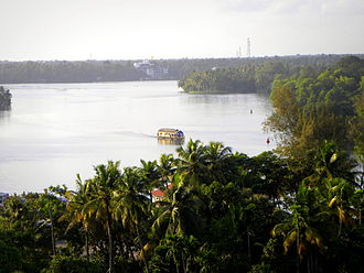 Ashtamudi Lake - A top view of Ashtamudi backwaters