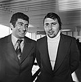 Aankomst Levski Spartak op Schiphol, trainer Voutcov (l) en doelman Staiker, Bestanddeelnr 929-4173.jpg