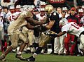 Aaron Polanco catches pass at 2004 Emerald Bowl 041230-N-9693M-493.jpg