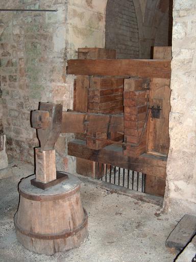 Abbaye de Fontenay marteau pilon dans la forge