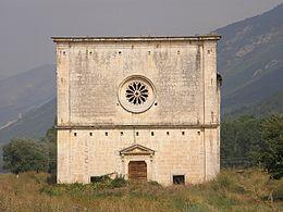 Chiesa rurale di Santa Maria delle Grazie: facciata