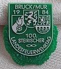 Abzeichen zum 100ersten landesfeuerwehrtag bruck an der mur 1984.JPG